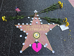 Tom Petty Hollywood Star on Walk of Fame in wake of his death. 02 Oct 2017 Pictured: Tom Petty Hollywood Star on Walk of Fame in wake of his death. Photo credit: APEX / MEGA TheMegaAgency.com +1 888 505 6342