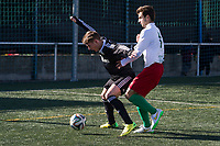 Trival Valderas's Jorge Felix and Real Madrid Castilla´s  Varela during 2014-15 Spanish Second Division B match between Trival Valderas and Real Madrid Castilla at La Canaleja stadium in Alcorcon, Madrid, Spain. February 01, 2015. (ALTERPHOTOS/Luis Fernandez)