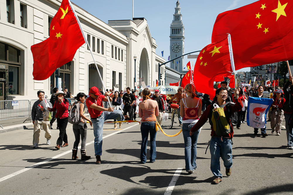 San Francisco Olympic torch relay protests