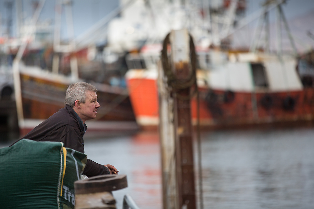 Mallaig Boatyard. The yard owner Donald Sharman . Picture Robert Perry 9th April 2016<br /> <br /> Must credit photo to Robert Perry<br /> FEE PAYABLE FOR REPRO USE<br /> FEE PAYABLE FOR ALL INTERNET USE<br /> www.robertperry.co.uk<br /> NB -This image is not to be distributed without the prior consent of the copyright holder.<br /> in using this image you agree to abide by terms and conditions as stated in this caption.<br /> All monies payable to Robert Perry<br /> <br /> (PLEASE DO NOT REMOVE THIS CAPTION)<br /> This image is intended for Editorial use (e.g. news). Any commercial or promotional use requires additional clearance. <br /> Copyright 2014 All rights protected.<br /> first use only<br /> contact details<br /> Robert Perry     <br /> 07702 631 477<br /> robertperryphotos@gmail.com<br /> no internet usage without prior consent.         <br /> Robert Perry reserves the right to pursue unauthorised use of this image . If you violate my intellectual property you may be liable for  damages, loss of income, and profits you derive from the use of this image.