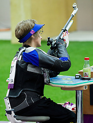 Natascha Hiltrop of Germany competes in the Men's R3-10m Air Rifle Prone Cat. 1 shooting Qualifications during Day 4 of the Summer Paralympic Games London 2012 on September 1, 2012, in Royal Artillery Barracks, London, Great Britain. (Photo by Vid Ponikvar / Sportida.com)