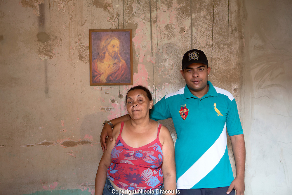 Rafael Teixeira and his mum, Complexo do Alem&atilde;o 2013.<br />