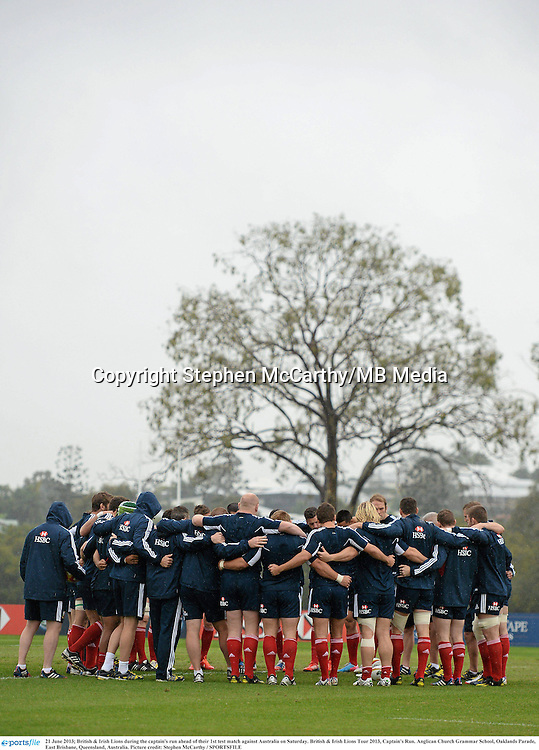 21 June 2013; British & Irish Lions during the captain's run ahead of their 1st test match against Australia on Saturday. British & Irish Lions Tour 2013, Captain's Run. Anglican Church Grammar School, Oaklands Parade, East Brisbane, Queensland, Australia. Picture credit: Stephen McCarthy / SPORTSFILE