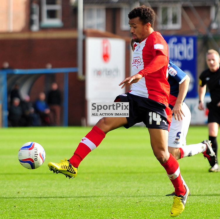 Nicky Ajose (Crawley Town, red) ..Carlisle v Crawley, Npower League One, 29th September 2012..(c)  Alex Todd | StockPix.eu