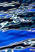 Reflected water patterns in Southeast Alaska.