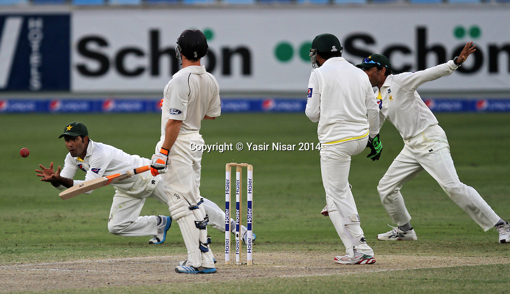Pakistan vs New Zealand, 20 November 2014 <br /> Asad Shafiq takes the catch of Watling on the forth day of second test in Dubai