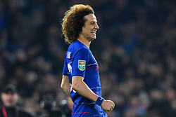 January 24, 2019 - London, England, United Kingdom - Chelsea defender David Luiz celebrates the winning penalty during the Carabao Cup match between Chelsea and Tottenham Hotspur at Stamford Bridge, London on Thursday 24th January 2019. (Credit Image: © Mark Fletcher/NurPhoto via ZUMA Press)