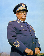 Josip Broz Tito (1892 - 1980) Yugoslav revolutionary and statesman. Secretary-General (later President) of the Communist Party  of Yugoslavia (1939–80), led the WWII Yugoslav resistance movement, the Yugoslav Partisans (1941–45). Prime Minister (1945–53) and later President (1953–80) of Yugoslavia  from 1943 to his death in 1980