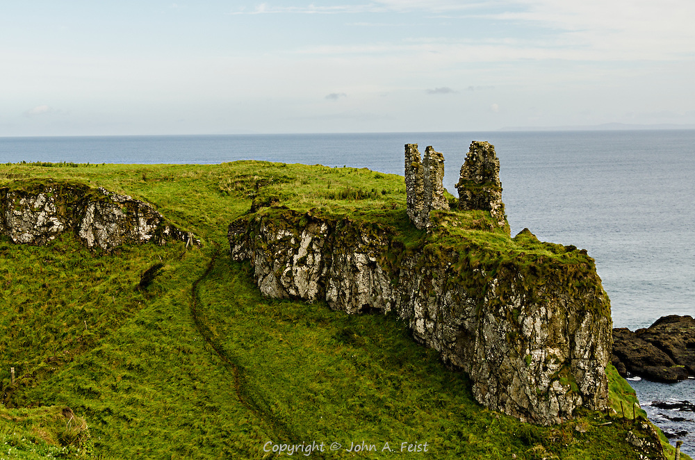 The remains of Dunseverick Castle in county Antrim, Northern Ireland.  This is all that remains of a once significant structure.  Just to the left is the Giants' Causeway.