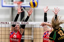 17-03-2018 NED: Prima Donna Kaas Huizen - VC Sneek, Huizen<br /> PDK verliest kansloos met 3-0 van Sneek / Sietske Osinga #8, Sjanet Wijnia #5, Eva Hilhorst #12 of PDK Huizen