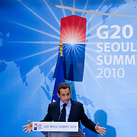 World Leaders Attend G20 Seoul Summit 2010