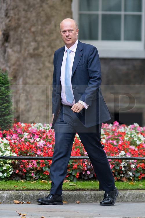 © Licensed to London News Pictures. 21/09/2017. London, UK. Transport Secretary Chris Grayling arriving in Downing Street to attend a Cabinet meeting this morning. Photo credit : Tom Nicholson/LNP