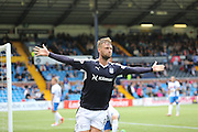 Rory Loy celebrates after putting Dundee two ahead  - Kilmarnock v Dundee - Ladbrokes Scottish Premiership at Rugby Park<br /> <br />  - &copy; David Young - www.davidyoungphoto.co.uk - email: davidyoungphoto@gmail.com
