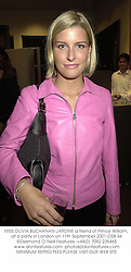 MISS OLIVIA BUCHANAN-JARDINE a friend of Prince William, at a party in London on 11th September 2001.	OSB 44