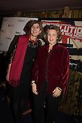 MARGY KINMONTH; PRINCESS KATYA GALITZINE, Premiere of Revolution, New Art For a New World ,  Curzon cinema , London. 10 Nov 2016