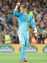 30.05.2015, Camp Nou, Barcelona, ESP, Copa del Rey, Athletic Club Bilbao vs FC Barcelona, Finale, im Bild FC Barcelona's Marc-Andre Ter Stegen celebrates goal // during the final match of spanish king's cup between Athletic Club Bilbao and Barcelona FC at Camp Nou in Barcelona, Spain on 2015/05/30. EXPA Pictures © 2015, PhotoCredit: EXPA/ Alterphotos/ Acero<br /> <br /> *****ATTENTION - OUT of ESP, SUI*****