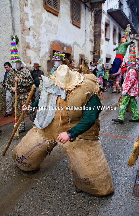 Ziripot. Lantz carnival. Navarra. Spain