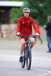 ROTTACH-EGERN, GERMANY - Friday, July 28, 2017: Liverpool's Ben Woodburn cycles to a training session at FC Rottach-Egern on day three of the preseason training camp in Germany. (Pic by David Rawcliffe/Propaganda)