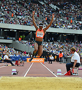USA long jumper Janay Deloach during the Sainsbury's Anniversary Games at the Queen Elizabeth II Olympic Park, London, United Kingdom on 25 July 2015. Photo by Mark Davies.