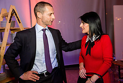 Aleksander Ceferin, president of UEFA and Misa Zupancic during Traditional New Year party of of the Slovenian Football Association - NZS, on December 20, 2018 in Gospodarsko razstavisce, Ljubljana, Slovenia. Photo by Vid Ponikvar / Sportida
