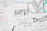 London | April 7, 2010 | Thousands visit Abbey Road Studios in northwest London every year and leave a note at the outside walls of the venue, like fans from Brazil did | © juelich/ip-photo.com
