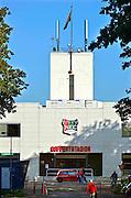 Nederland, Nijmegen, 27-10-2015Goffertstadion, het stadion waar NEC haar thuisbasis heeft. Het is met schoppen uitgegraven en gebouwd in de jaren dertig in het kadrr van de werkverschaffing tijdens de grote depressie, crisis, na de beurskrach van 1929.FOTO: FLIP FRANSSEN/ HH