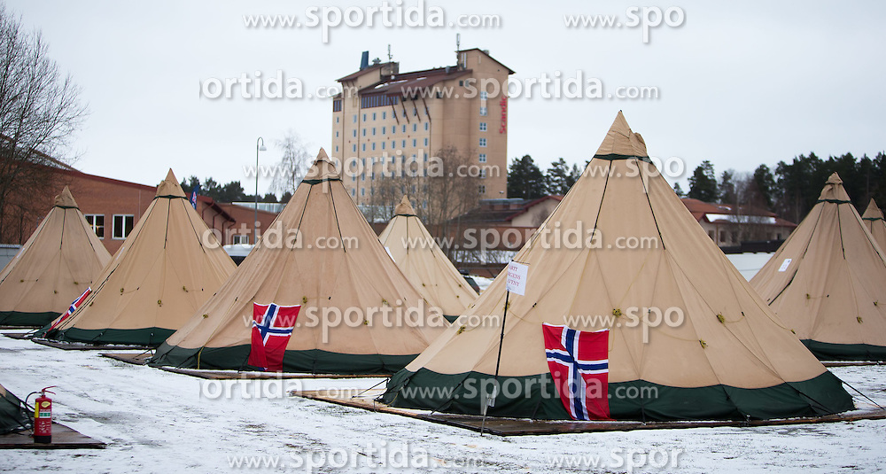 24.02.2015, Falun, SWE, FIS Weltmeisterschaften Ski Nordisch, im Bild das Norwegen camp // Camp of Norway Fans during the FIS Nordic Ski World Championships 2015 in Falun, Sweden on 2015/02/24. EXPA Pictures © 2015, PhotoCredit: EXPA/ JFK