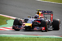 03 RICCIARDO Daniel (Aus) Red Bull Renault Rb10 action during the 2014 Formula One World Championship, Japan Grand Prix from October 3rd to 5th 2014 in Suzuka. Photo Clement Marin / DPPI