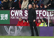 Sean Dyche Manager of Burnley gestures during the The FA Cup match between Burnley and Peterborough United at Turf Moor, Burnley, England on 4 January 2020.