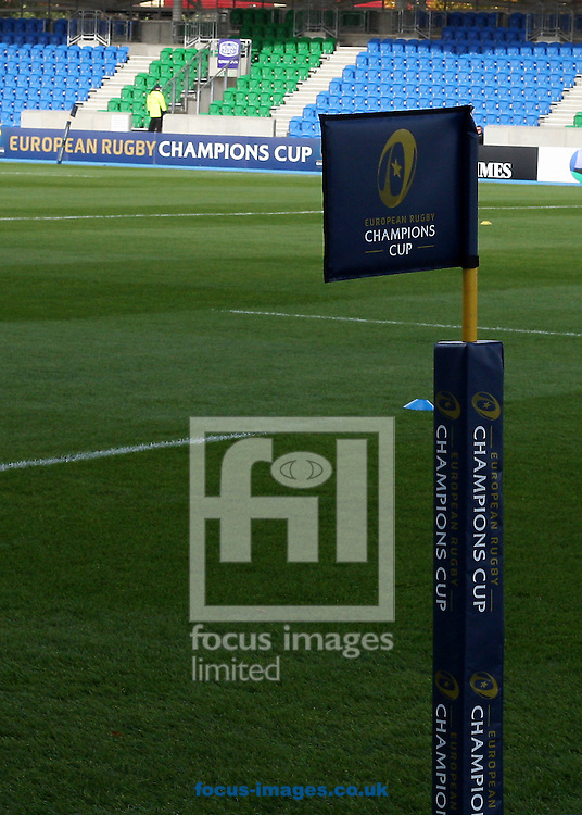 Euopean Rugby Challenge Cup Flag before the European Rugby Champions Cup match at Scotstoun Stadium, Glasgow<br /> Picture by Ian Buchan/Focus Images Ltd +44 7895 982640<br /> 18/10/2014