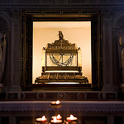 Chains of Saint Peter inside the Basilica Di San Pietro in Vincoli or Basilica of Saint Peter in Chains,  Rome, Italy