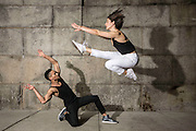 Lauren Yalango-Grant and Christopher Grant, professional dancers, alumni of Pilobolus, currently with Fuerza Bruta Wayra and Queen of the Night