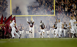 The Aggies take the field against LSU before the start of an NCAA college football game Thursday, Nov. 24, 2016, in College Station, Texas. (Sam Craft/The Eagle)