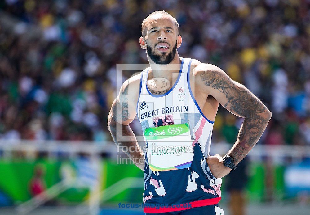 James Ellington of Great Britain during Men's 100m semi-final on day eight of the XXXI 2016 Olympic Summer Games in Rio de Janeiro, Brazil.<br /> Picture by EXPA Pictures/Focus Images Ltd 07814482222<br /> 13/08/2016<br /> *** UK &amp; IRELAND ONLY ***<br /> <br /> EXPA-GRO-160814-5266.jpg