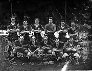 29/01/1961<br /> 01/29/1961<br /> 29 January 1961<br /> Soccer, League of Ireland: Drumcondra v Cork Celtic at Tolka Park, Dublin. The Cork Celtic team.