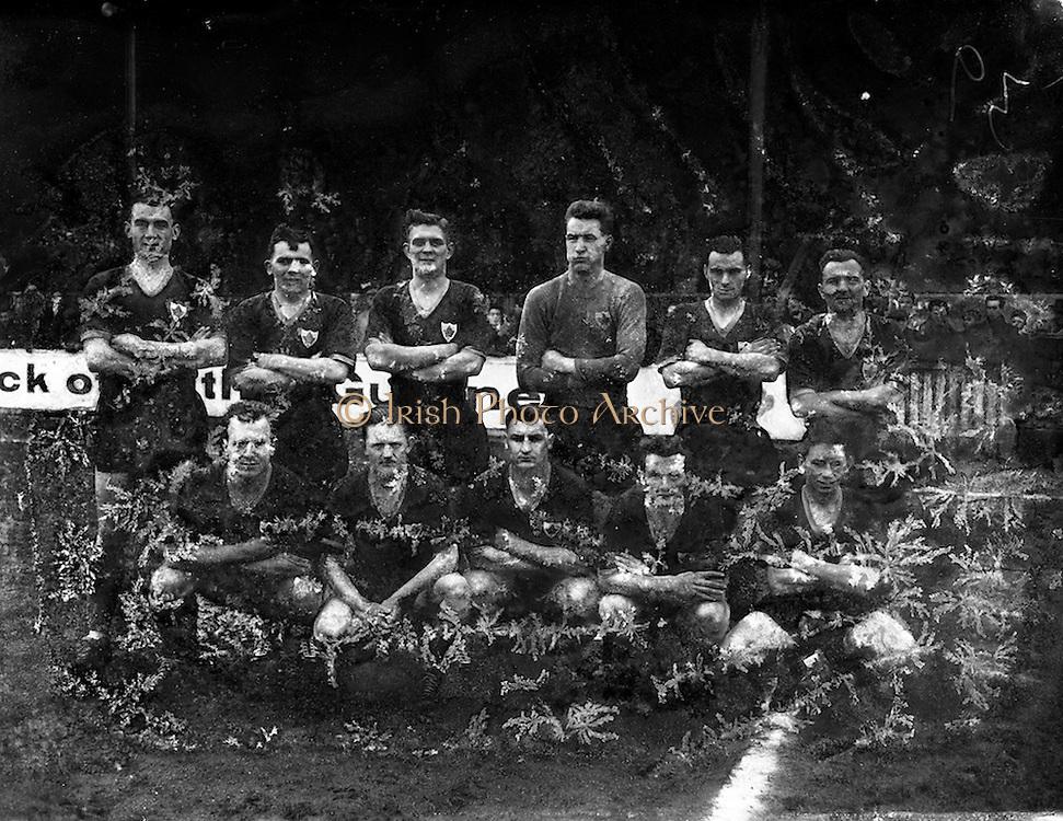 29/01/1961<br /> 01/29/1961<br /> 29 January 1961<br /> Soccer, League of Ireland: Drumcondra v Cork Celtic at Tolka Park, Dublin. The Cork Celtic team.