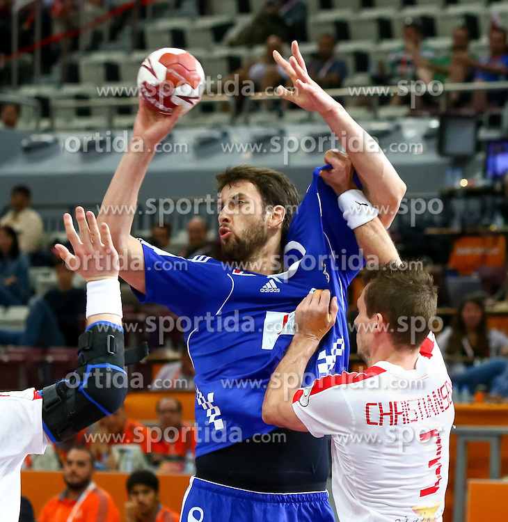 31.01.2015, Lusail Multipurpose Hall, Lusail, QAT, IHF, Handball Weltmeisterschaft der Herren, Spiel um Platz 5, Dänemark vs Kroatien, im Bild Marko Kopljar (CRO) // during the IHF Handball World Championship match for the fifth place between Denmark and Croatia at the Lusail Multipurpose Hall, Lusail, Qatar on 2015/01/31. EXPA Pictures © 2015, PhotoCredit: EXPA/ Sebastian Pucher