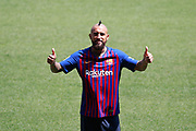 Presentation of Arturo Vidal as new player of the FC Barcelona, at Camp Nou Stadium, in Barcelona, Spain, on August 6, 2018 - Photo Andres Garcia / SpainProSportsImages / DPPI / ProSportsImages / DPPI