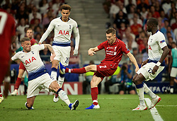 MADRID, SPAIN - SATURDAY, JUNE 1, 2019: Liverpool's James Milner during the UEFA Champions League Final match between Tottenham Hotspur FC and Liverpool FC at the Estadio Metropolitano. (Pic by David Rawcliffe/Propaganda)