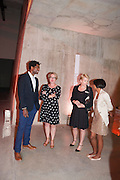 MARK MILLER; FIONA KINGSMAN; EMILY PRINGLE; SILAJA SUMTHARALINGAM; SAM JENNINGS, The Tanks at Tate Modern, opening. Tate Modern, Bankside, London, 16 July 2012