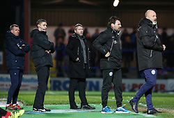 Peterborough United Manager Grant McCann watches on from the touchline alongside Rochdale manager Keith Hill - Mandatory by-line: Joe Dent/JMP - 25/11/2017 - FOOTBALL - Crown Oil Arena - Rochdale, England - Rochdale v Peterborough United - Sky Bet League One
