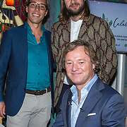 NLD/Amsterdam/20190910 - Lancering Platform Celebabs, Frits Sissing met Tim Ouburg en Jeroen van den Boom