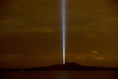 Auckland - Light over Rangitoto Island
