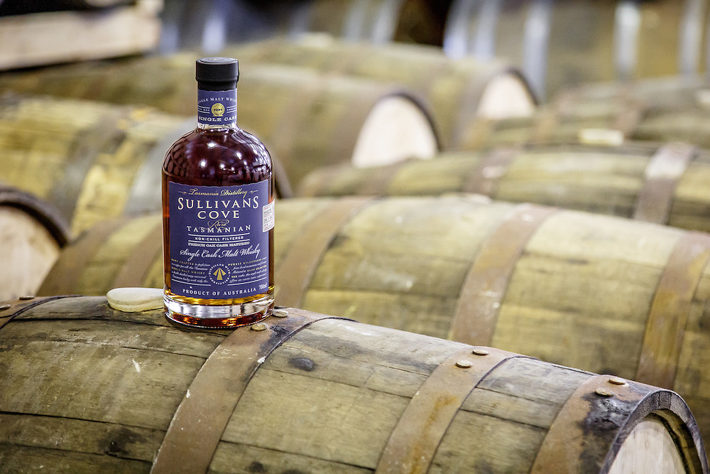 A bottle of the award-winning Sullivan's Cove French Oak Cask aged whisky at Tasmania Distillery in Hobart, Tasmania, August 25, 2015. Gary He/DRAMBOX MEDIA LIBRARY