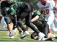 George School's Darrell Edwards (11) picks  up a fumble and runs against Bristol in the first quarter Saturday, September 17, 2016 in Newtown, Pennsylvania.  (Photo by William Thomas Cain)