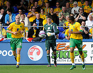 Hartlepool - Saturday August 29th, 2009: Norwich City go into the game with Fraser Forster in goal during the Coca Cola League One match at Victoria Park, Hartlepool. (Pic by Jed Wee/Focus Images)..