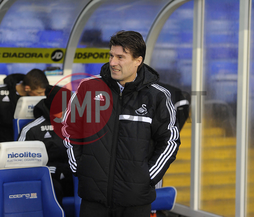 Swansea City Manager, Michael Laudrup - Photo mandatory by-line: Alex James/JMP - Tel: Mobile: 07966 386802 25/01/2014 - SPORT - FOOTBALL - St Andrew's - Birmingham - Birmingham City v Swansea City - FA Cup - Forth Round