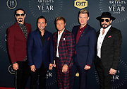 NASHVILLE, TN - OCTOBER 18:  Recording artists Kevin Richardson, Howie Dorough, Brian Littrell, Nick Carter and AJ McLean attend the 2017 CMT Artists Of The Year awards at Schermerhorn Symphony Center on October 18, 2017 in Nashville, Tennessee.  (Photo by Mickey Bernal/FilmMagic) *** Local Caption *** Kevin Richardson; Howie Dorough; Brian Littrell; Nick Carter; AJ McLean