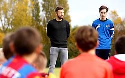 Matt Taylor of Bristol Rovers joins children taking part in the Bristol Rovers Half Term Holiday Camp - Mandatory by-line: Robbie Stephenson/JMP - 27/10/2016 - FOOTBALL - Magotsfield School - Bristol, England - Bristol Rovers Half Term Holiday Camp