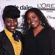 NLD/Amsterdam/20150119 - De Marie Claire Prix de la Mode awards, -Simone Weimans en ......